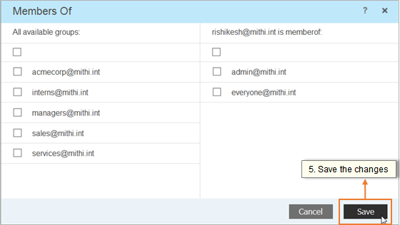 Manage memberships of distribution lists/groups.